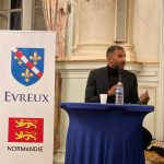 Evreux football Inauguration de la boutique officielle et intervention de Habib Beye