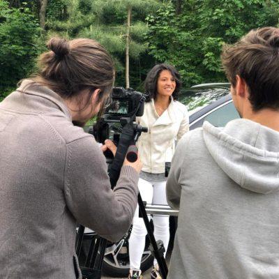 Tournage Kia avec Valérie Gauvin