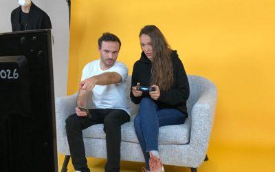 Tournage Crash Bandicoot avec Jérôme Niel et Audrey Pirault