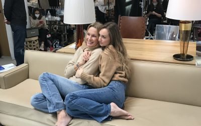 Backstage shooting Estelle Lefebure et Emma Smet au Brach Paris