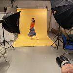 Backstage shootings campagne Tissaia avec Inès Vandamme