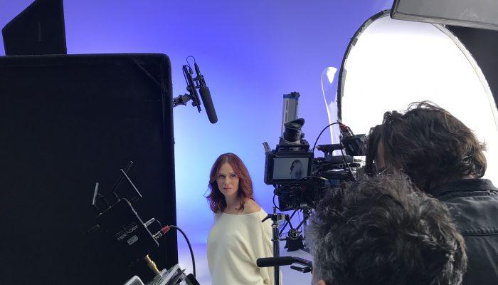 Backstage shooting campagne Eau Thermale Jonzac avec Audrey Fleurot